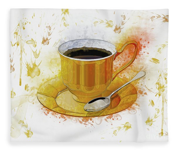 Coffee Art Fleece Blanket