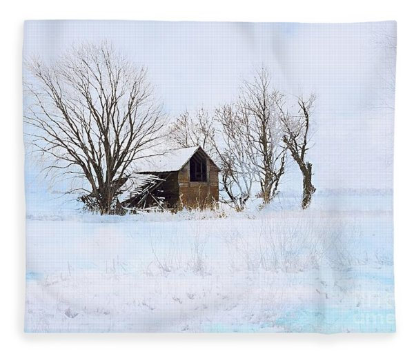 Cold And Lonely Fleece Blanket