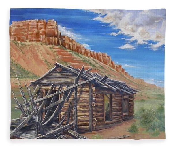 Colorado Prarie Cabin Fleece Blanket