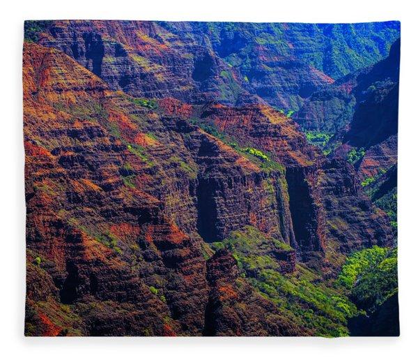 Colorful Mountains Of Kauai Fleece Blanket