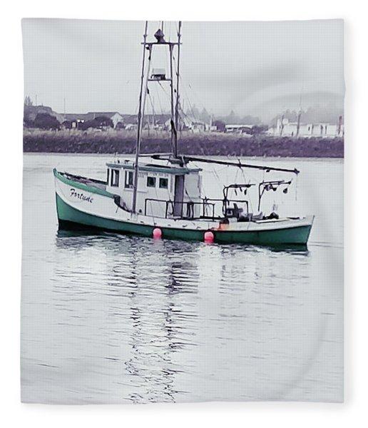 Fishing Boat Coming Home Fleece Blanket