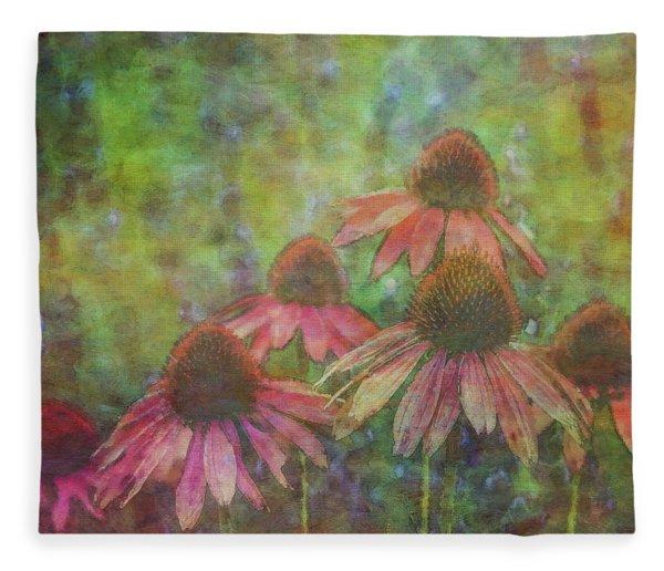 Coneflowers Among The Lavender 1667 Idp_2 Fleece Blanket