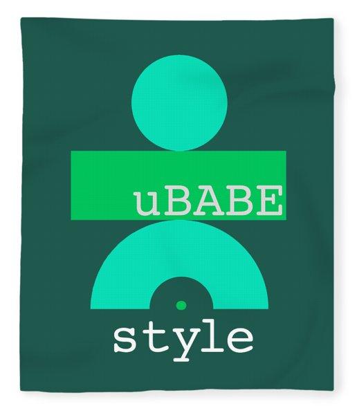 Cool Green Style Fleece Blanket