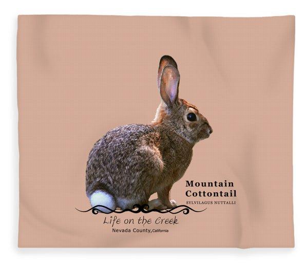 Cottontail Rabbit Fleece Blanket