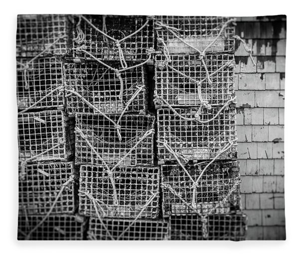Crab Traps Fleece Blanket