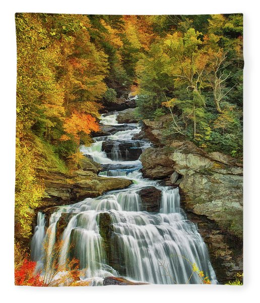 Cullasaja Falls Fleece Blanket