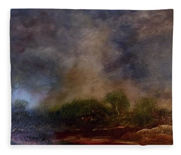 Dark Afternoon Fleece Blanket