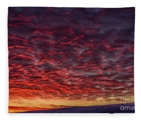 Dawn Of A Cold Day Fleece Blanket