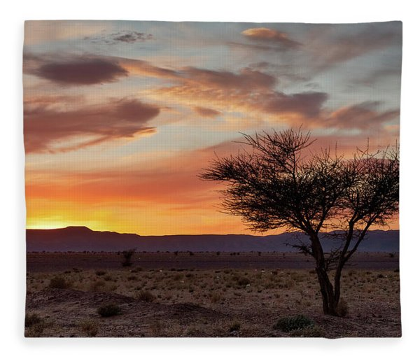 Desert Sunset II Fleece Blanket