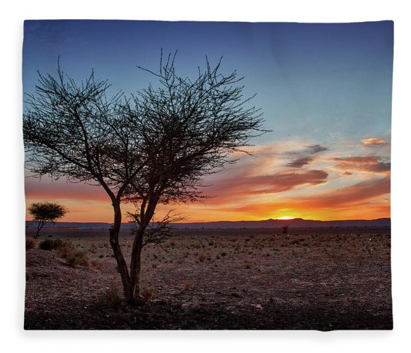 Desert Sunset Fleece Blanket