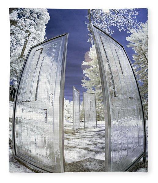 Dimensional Doors Fleece Blanket