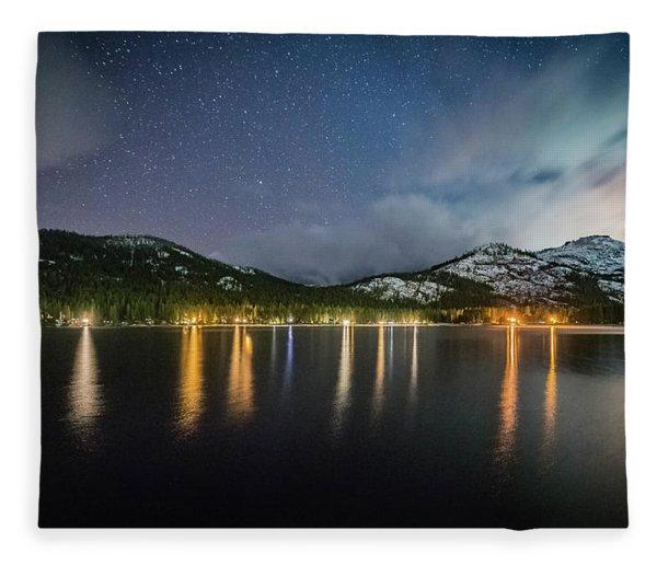 Donner Lake Before The Storm Fleece Blanket