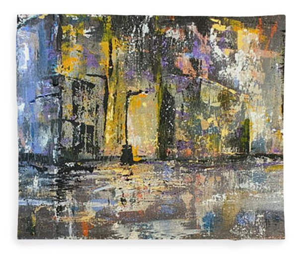 Downtown Blues Uptown Jazz  Fleece Blanket