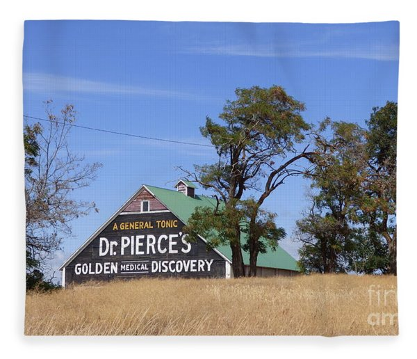 Dr. Pierce's Golden Medical Discovery Barn Fleece Blanket