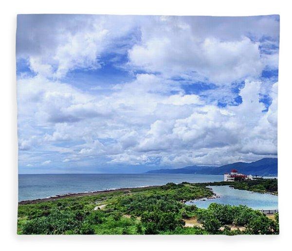 Dramatic Sky And Coastal Scenery Fleece Blanket