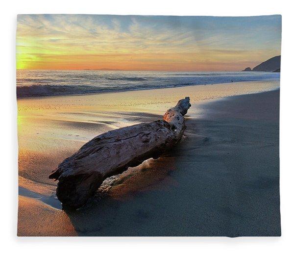 Drift Wood At Sunset II Fleece Blanket
