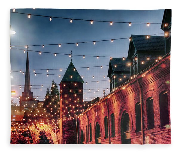 Dusk Lights Fleece Blanket