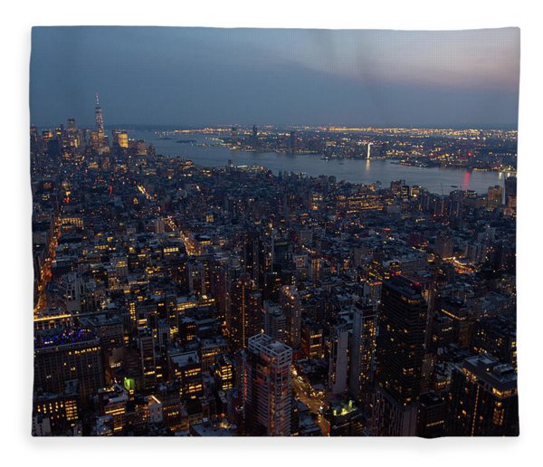Dusk On New York City Fleece Blanket