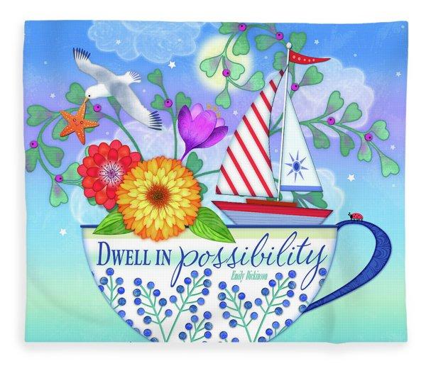 Dwell In Possibility Fleece Blanket