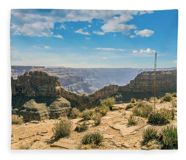 Eagle Rock, Grand Canyon. Fleece Blanket
