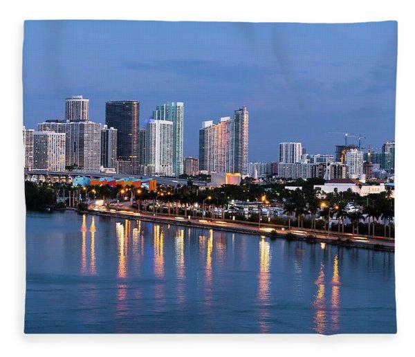 Early Rise Miami Fleece Blanket