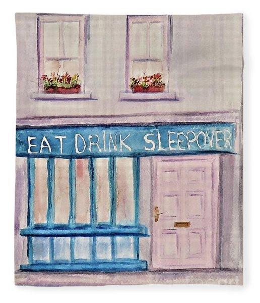 Eat Drink Sleepover Fleece Blanket