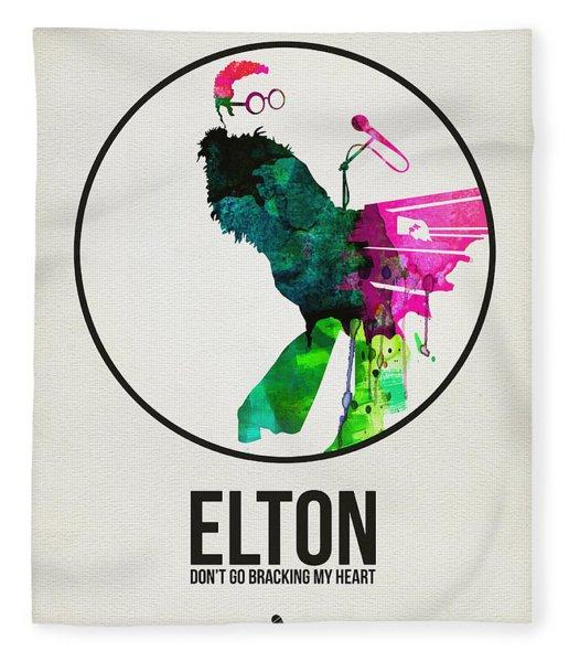 Elton Watercolor Poster Fleece Blanket