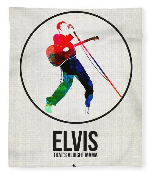 Elvis Presley Watercolor Fleece Blanket