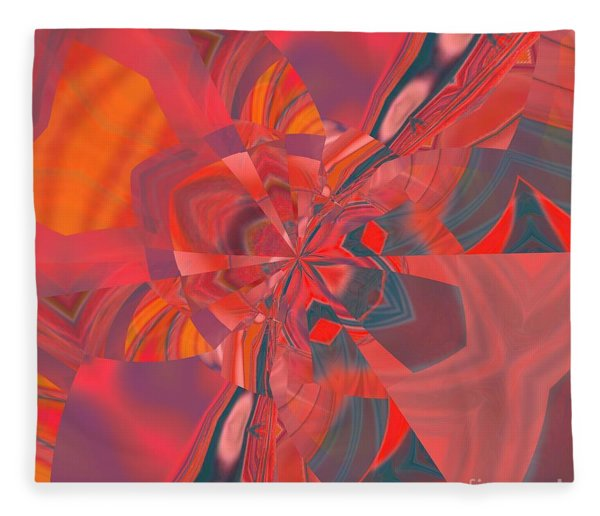 Fleece Blanket featuring the digital art Emotion by A zakaria Mami