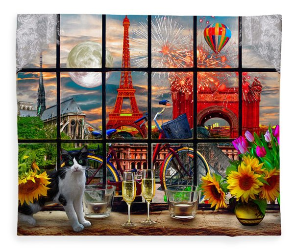 Evening In Paris Fleece Blanket
