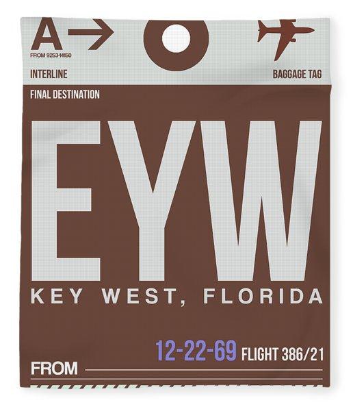Eyw Key West Luggage Tag II Fleece Blanket