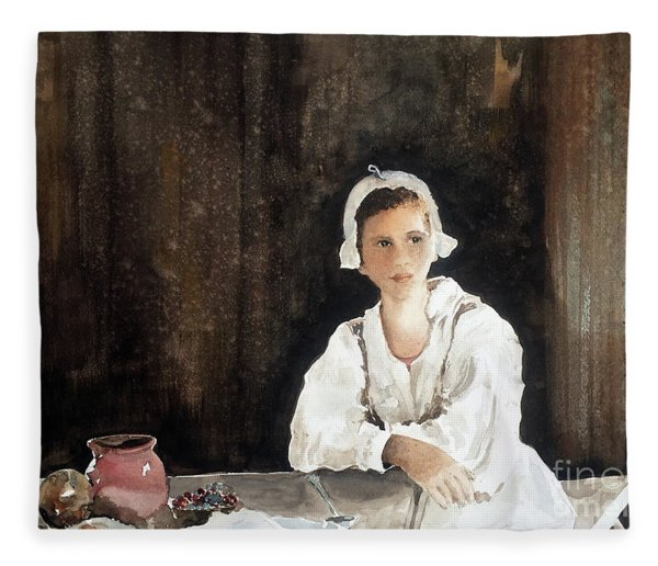 Fair Maiden Fleece Blanket