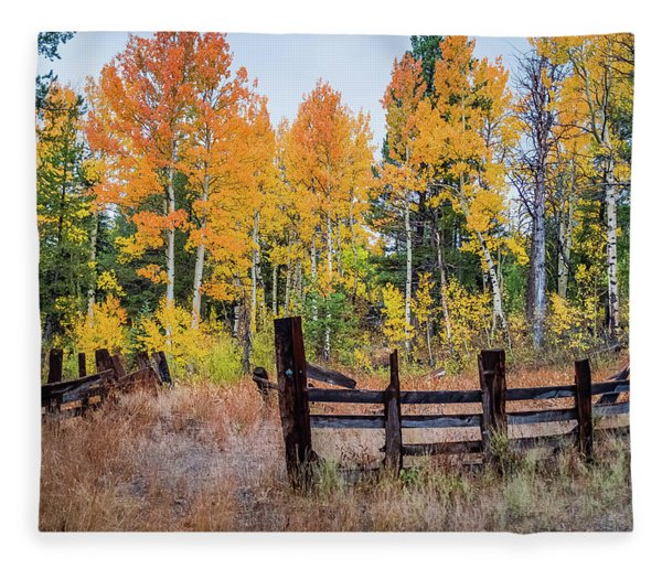 Fall Colors Fleece Blanket
