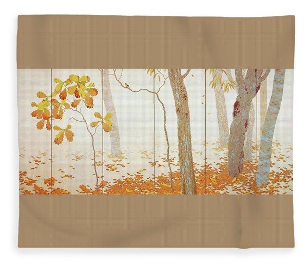 Fallen Leaves I - Digital Remastered Edition Fleece Blanket