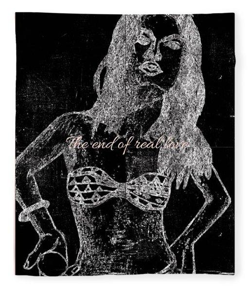 Fashion Girl Chalk Fleece Blanket