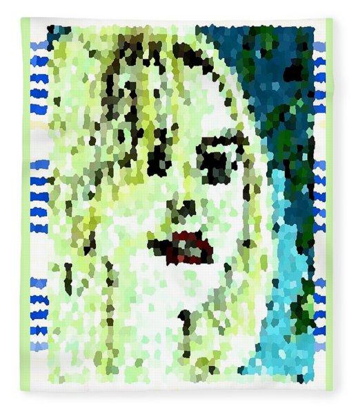 Fashion Girl Portrait Polly Fleece Blanket