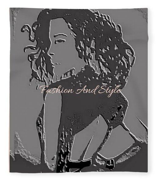 Fashion Girl Matt Fleece Blanket