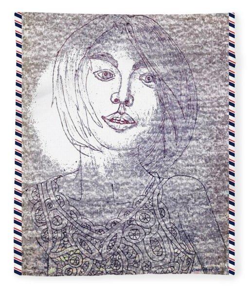 Fashion Girl Portrait 3 Fleece Blanket