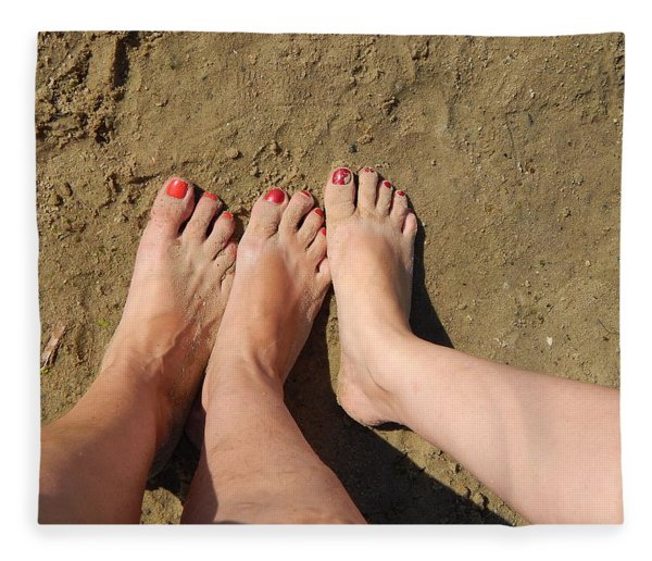 Feet In The Sand Fleece Blanket