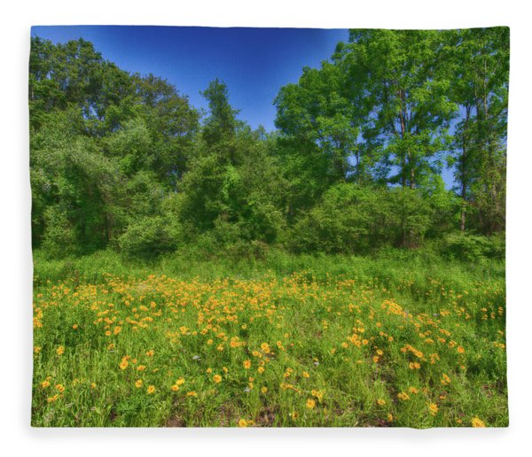 Field Of Wildflowers Fleece Blanket