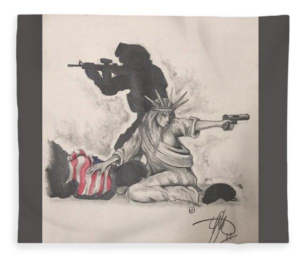 Fighting For Liberty  Fleece Blanket