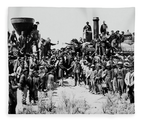 First Opening Of The Transcontinental Railroad - 1869 Fleece Blanket