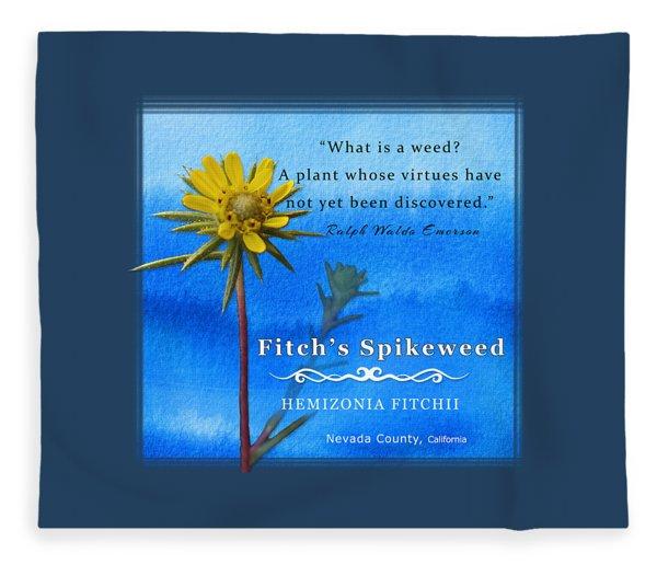 Fitch's Spikeweed Fleece Blanket