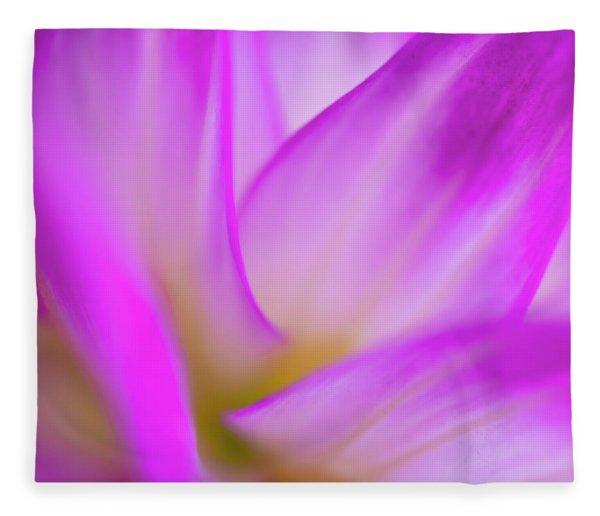 Flower Close Up Fleece Blanket
