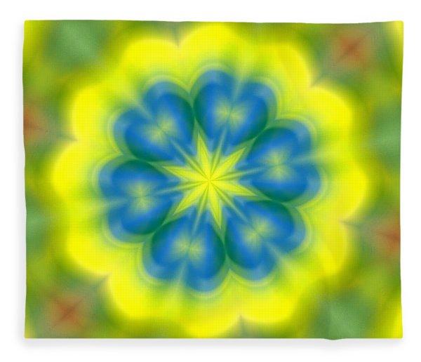 Flowers Number 62 Fleece Blanket