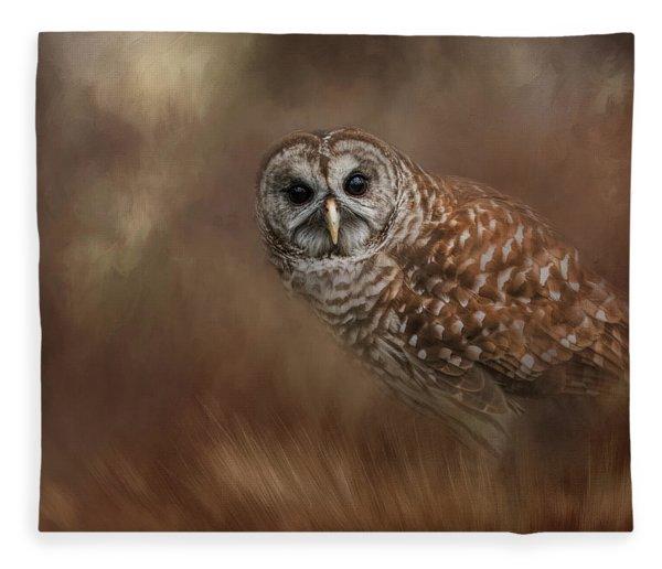Foraging In The Field Fleece Blanket