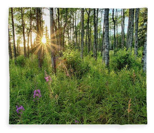 Forest Growth Alaska Fleece Blanket