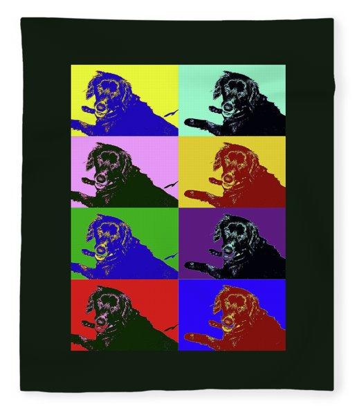 Foster Dog Pop Art Fleece Blanket