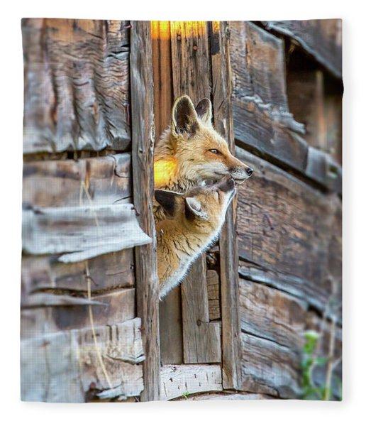 Fox Test  Fleece Blanket