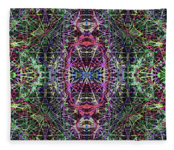 Fractal Organelles, No. 3 Fleece Blanket